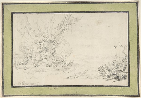 Landscape with Seated Shepherd and Dog