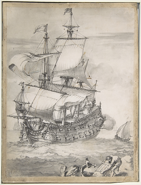 A Frigate at Sea