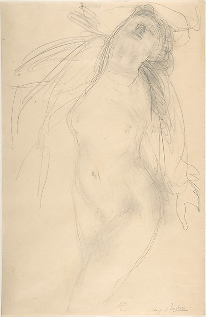 Nude female figure reclining on side