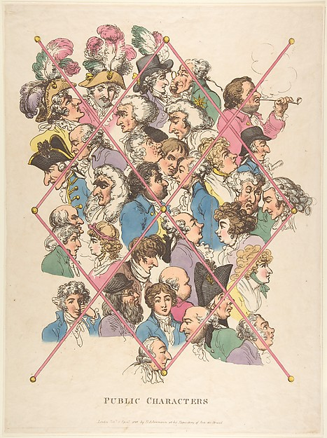 This is What Thomas Rowlandson and Public Characters Looked Like  on 4/1/1801