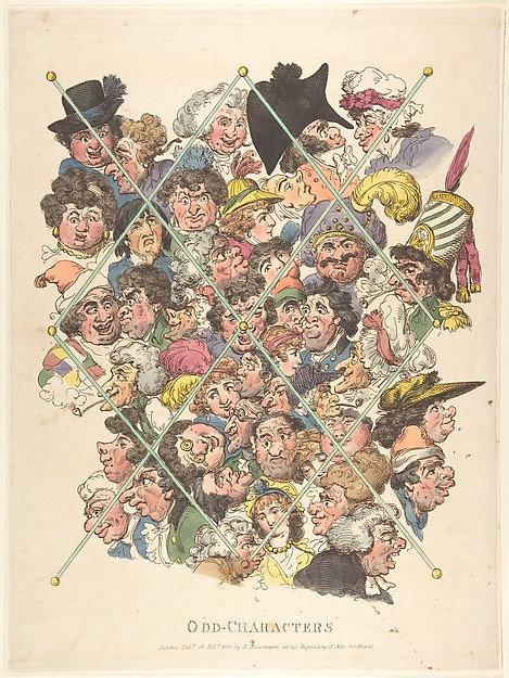 Fascinating Historical Picture of Thomas Rowlandson with Odd Characters on 2/16/1801