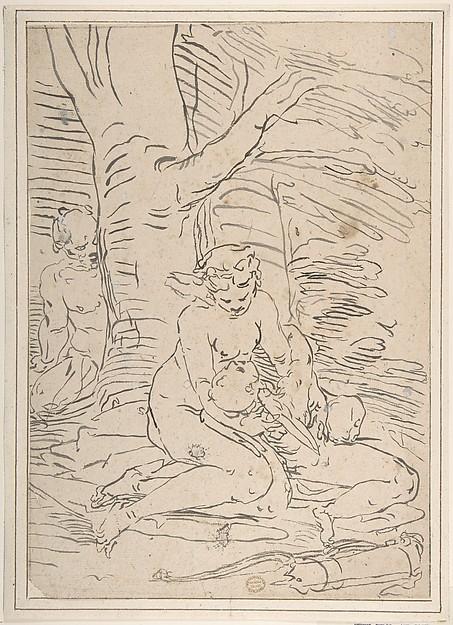Venus, Cupid and Satyr