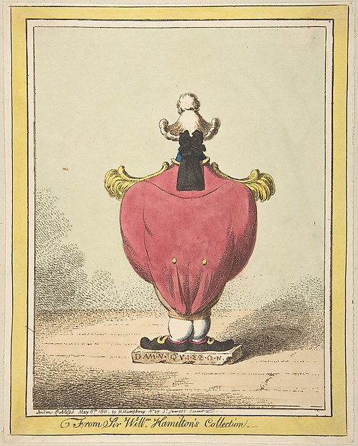 Fascinating Historical Picture of James Gillray with From Sir William Hamiltons Collection on 5/8/1801