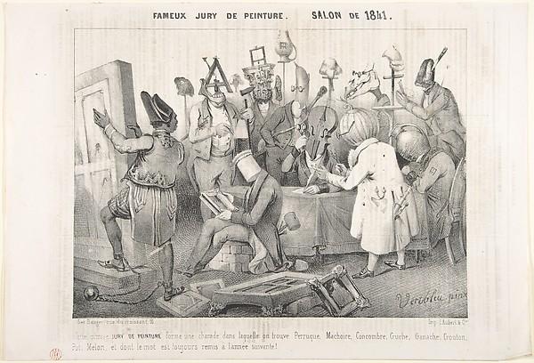 Fascinating Historical Picture of Clment Pruche with Fameux Jury de Peinture. Salon de 1841 on 3/20/1841