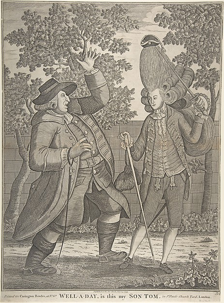 Fascinating Historical Picture of after Samuel Hieronymus Grimm with Well-a-day Is this my Son Tom in 1773