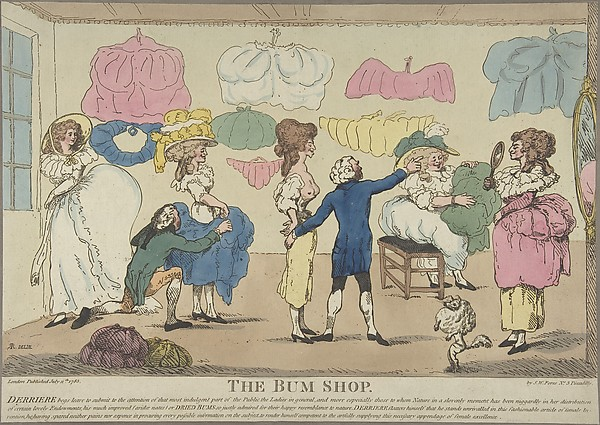 Fascinating Historical Picture of R. Rushworth with The Bum Shop on 7/11/1785