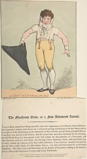 Fascinating Historical Picture of Thomas Rowlandson with The Monstrous Craw; or a New-Discovered Animal on 3/1/1802