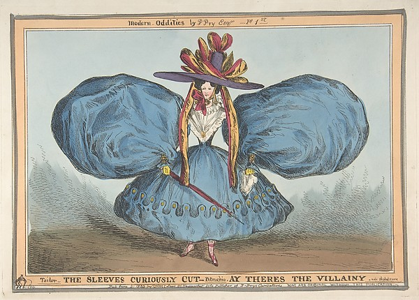 Fascinating Historical Picture of William Heath with Modern Oddities by P. Pry Esq. Plate 1st| The Sleeves Curiously Cut Ay Theres the Villainy - vide on 6/30/182