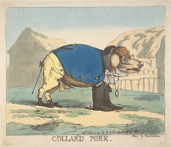 Fascinating Historical Picture of Thomas Rowlandson with Collard Pork on 7/25/1800