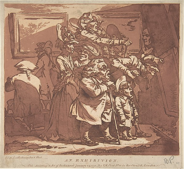 This is What Philippe Jacques de Loutherbourg and An Exhibition Looked Like  on 12/26/1776