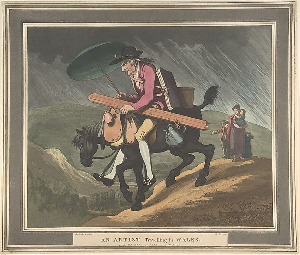 Fascinating Historical Picture of Henri Merke with An Artist Travelling in Wales on 2/10/1799