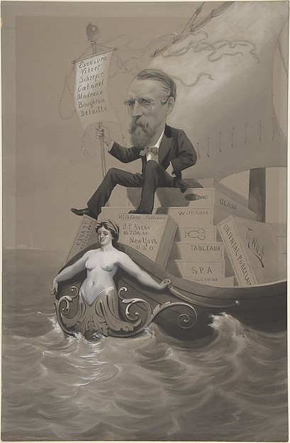 Samuel P. Avery Transporting His Treasures Across the Sea