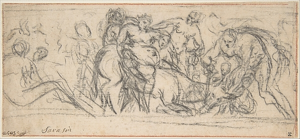 Drunken Silenus Riding on an Ass