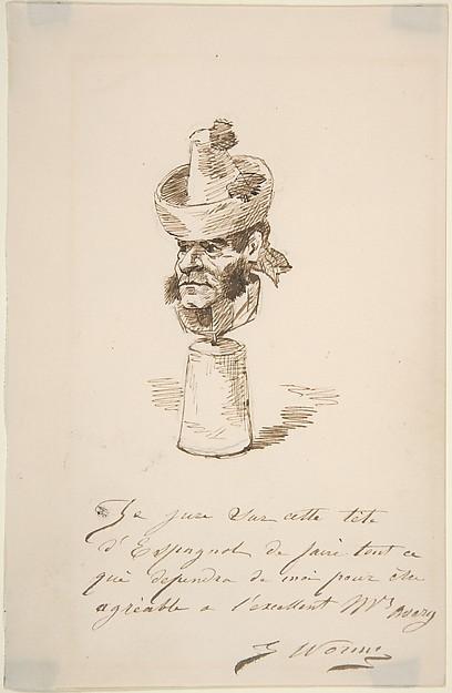 Caricatured Head of a Spaniard