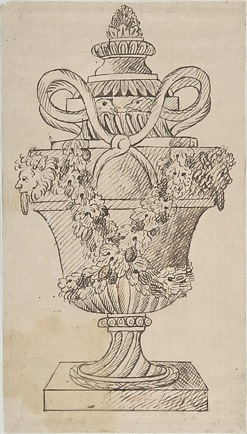 Design for an Urn (recto); Sketches (verso)