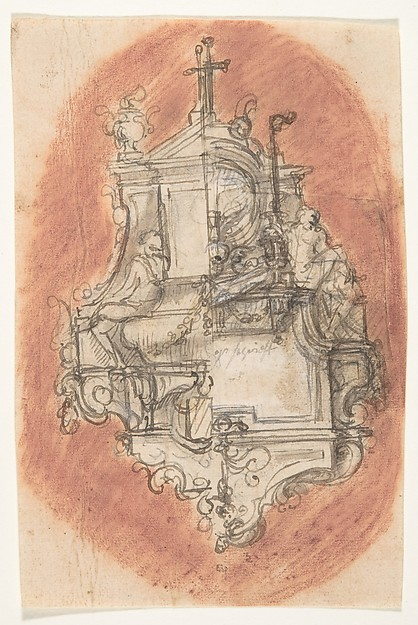 Design for a sepulchral monument; verso: Design for a sepulchral monument