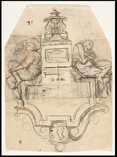 Design for a sepulchral monument; verso: Design for a monument