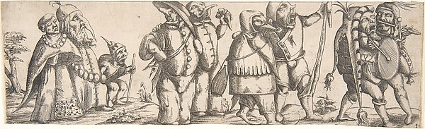 This is What Younger and Procession of Monstrous Figures Looked Like  in 1615