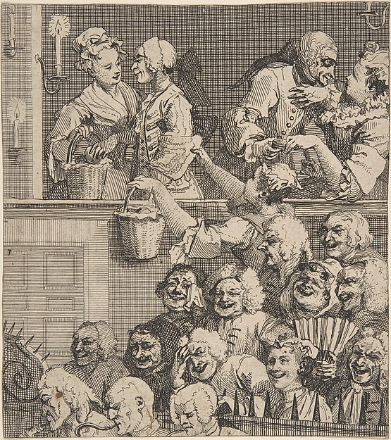Fascinating Historical Picture of William Hogarth with The Laughing Audience on 12/15/1733