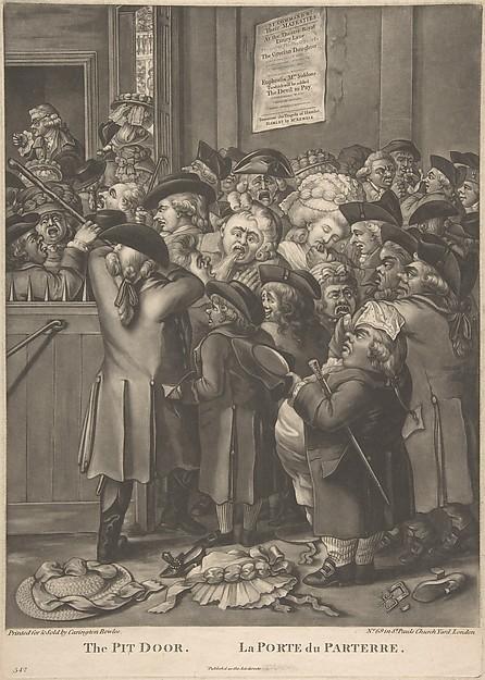 Fascinating Historical Picture of Elder with The Pit Door/ La Porte du Parterre on 11/9/1784