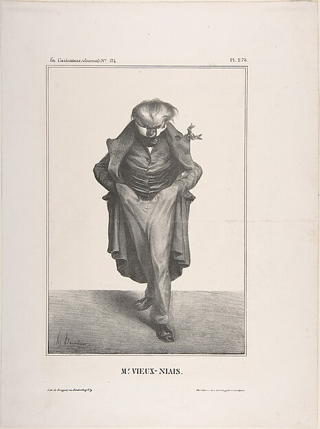 Fascinating Historical Picture of Honor Daumier with Mr. Vieux-Niais published in La Caricature no. 134 May 30 1833 on 5/30/1833