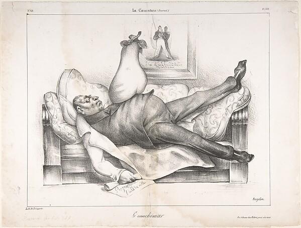 Le Cauchemar (The Nightmare), published in La Caricature no. 69, February 23, 1832