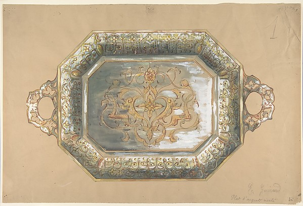 Design for an Embossed Silver Platter