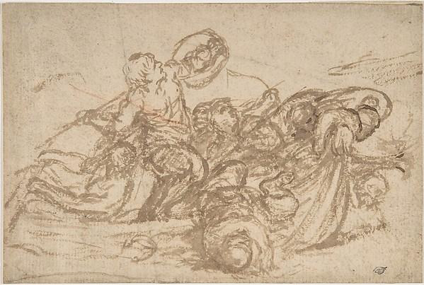 Fascinating Historical Picture of Pietro da Cortona with Sea Battle in 1596