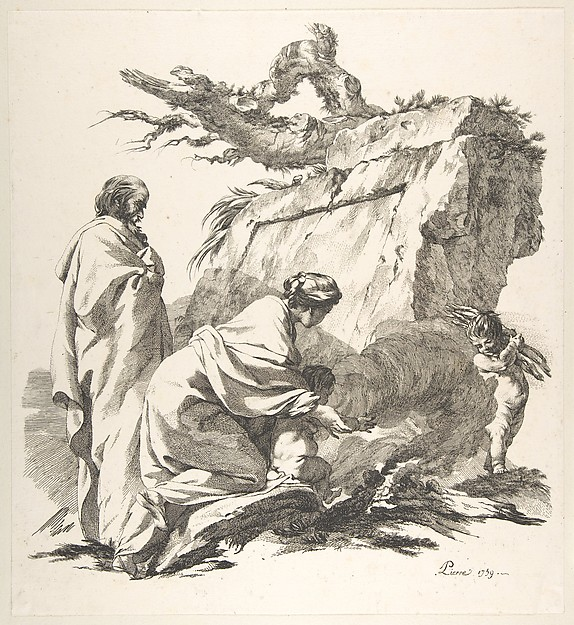 Fascinating Historical Picture of Jean-Baptiste Marie Pierre with Flight Into Egypt in 1759