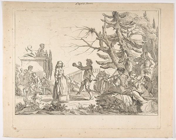 Fascinating Historical Picture of Jean-Baptiste Marie Pierre with Impromtu Dance (Le Bal improvis) in 1742