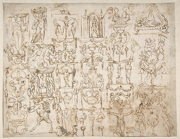 This is What Giovanni Antonio Dosio and Sketches of Grotesques. Looked Like  in 1533
