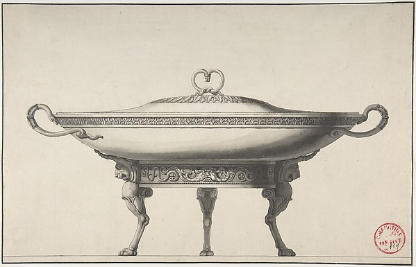 Design for a Covered Footed Serving Dish