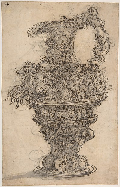 Design for a Ewer with Neptune on his Chariot