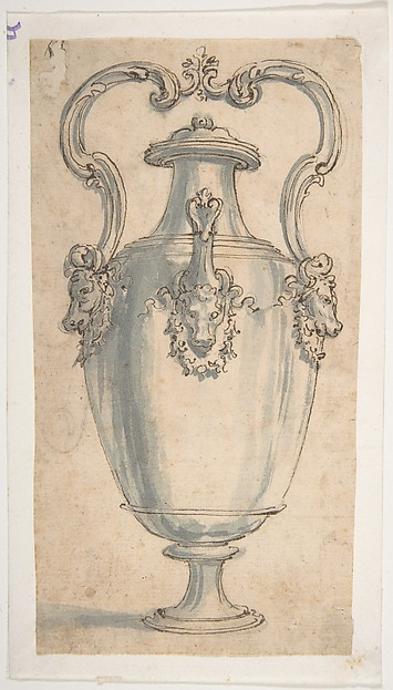 Design for an Urn Decorated with Bucrania.