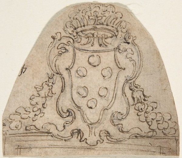 Design with Medici Coat of Arms.
