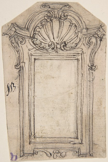 Design for a Frame Decorated with a Shell Motif