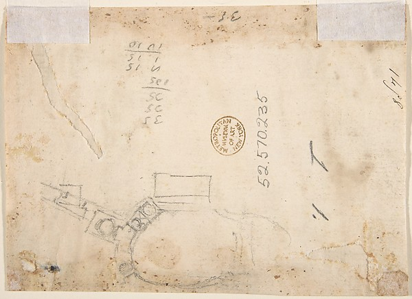 Design for a Pedestal (recto); Design for the Plan of a Monument (verso)