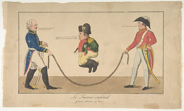 Fascinating Historical Picture of Friedrich August Mottu with Imperial Jump-rope (Le Sauteur imprial grand faiseur de tour) on 7/15/1815