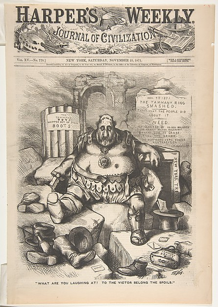 """What are You Laughing at? To the Victor Belong the Spoils"" (from Harper's Weekly)"