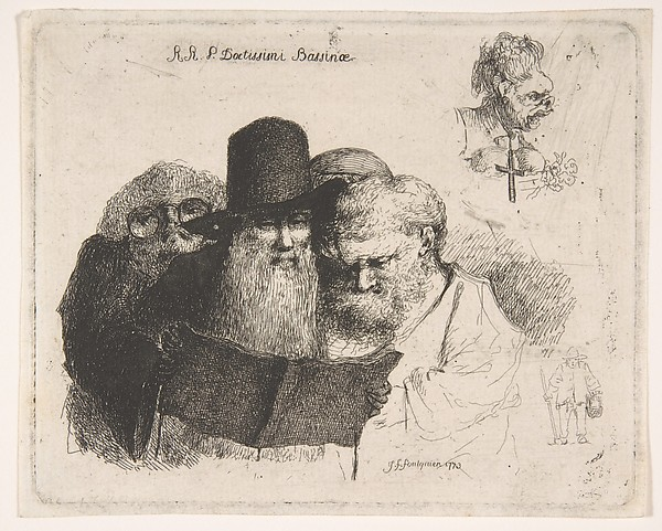 Fascinating Historical Picture of Joseph Franois Foulquier with R.R.P. Doctissimi Bassinae in 1773