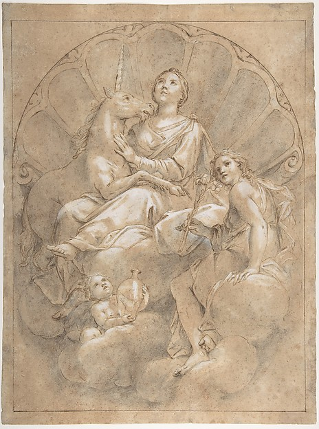 Allegorical Figure of Purity with a Unicorn