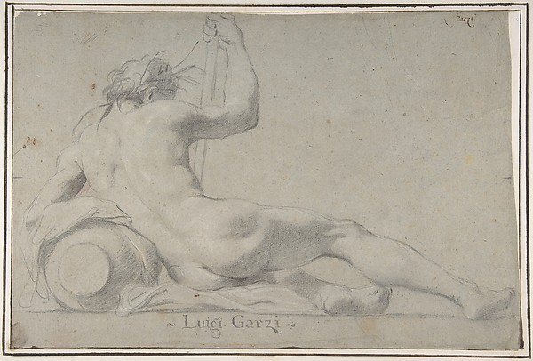 Fascinating Historical Picture of Luigi Garzi with Reclining River God in 1638