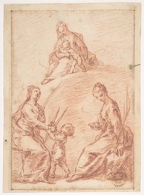 The Virgin and Child Appearing to Saint Agatha and Saint Lucy