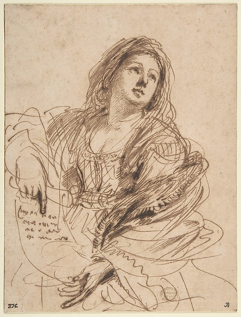 A Sibyl Holding a Scroll (Study for the Cimmerian Sibyl)