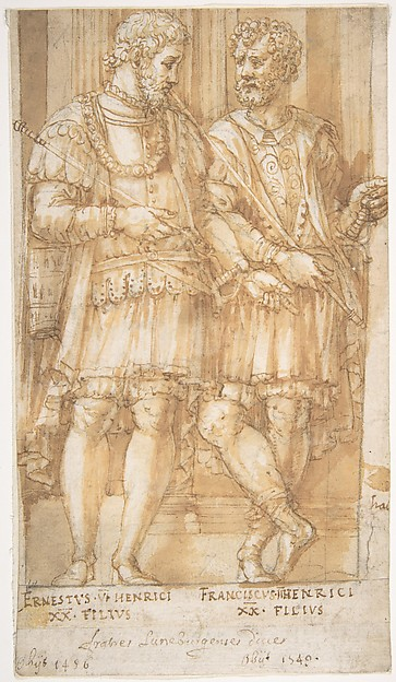 Two Princes of the House of Este (recto).