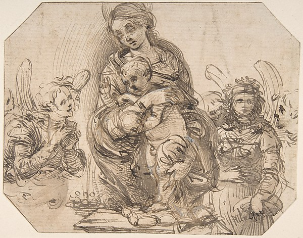 Virgin and Child Attended by Angels.
