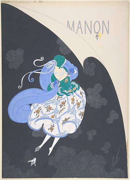 """Costume Design for """"Manon,"""" Chicago Opera Company, 1922"""