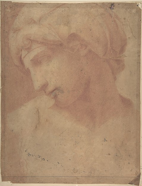 Drawing of the Head of Michelangelo&#39;s Dawn (from the Tomb of Lorenzo de&#39; Medici, Church of S. Lorenzo, Florence).