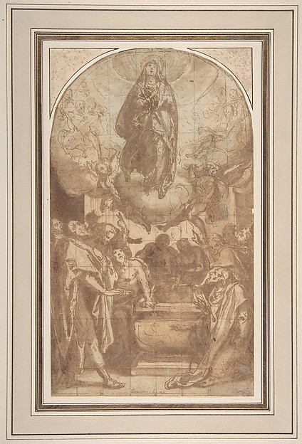 Fascinating Historical Picture of Cesare Nebbia with The Assumption of the Virgin in 1536