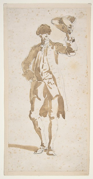 Man Shading His Face with a Tricorne